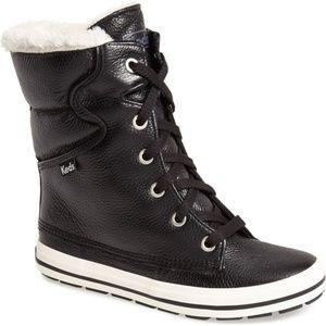 Keds Droplets Black Leather Boots